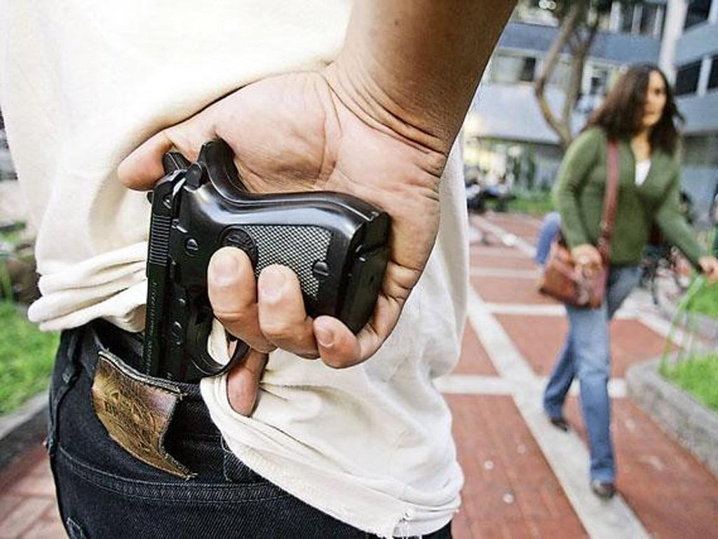 arma inseguridad robo