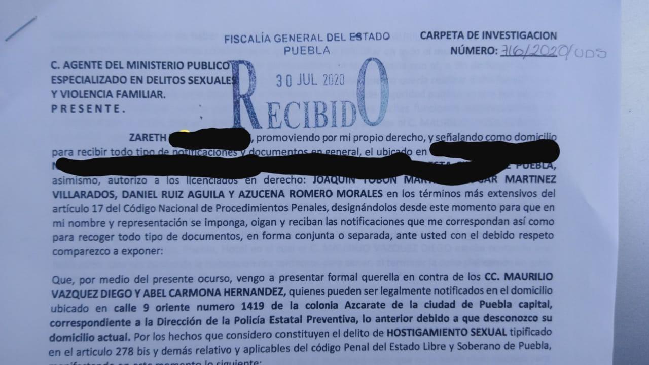 denuncia acoso sexual huejotzinog alcaldesa policia municipal