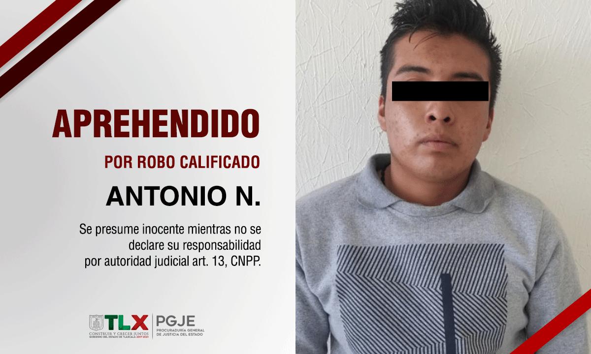 Aprehendido Antonio