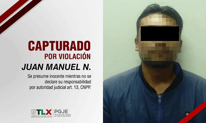 CAPTURADO VIOLACIÓN