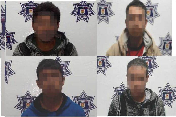 La SSC detiene en Tzompantepec a cuatro personas por el delito de robo