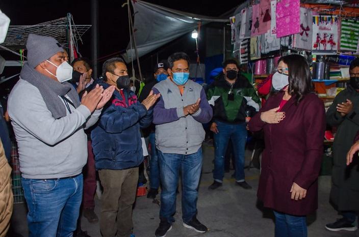 NORMA LAYON Y PERSONAL DEL AYUNTAMIENTO SUPERVISAN REINICIO DE ACTIVIDADES SEGURAS DEL TIANGUIS DE TEXMELUCAN3