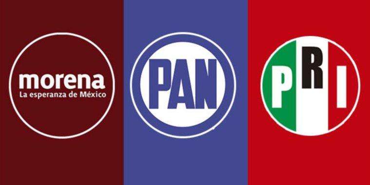 PARTIDOS logo pan morena pri