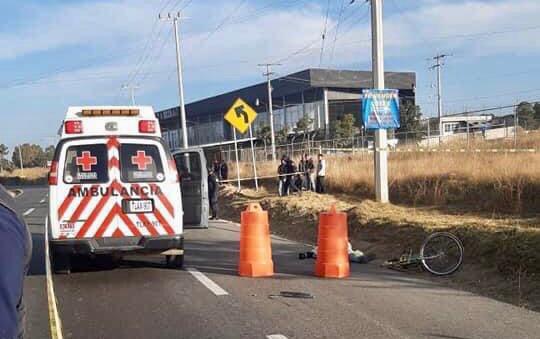 ambulancia cruz roja atropellado via corta