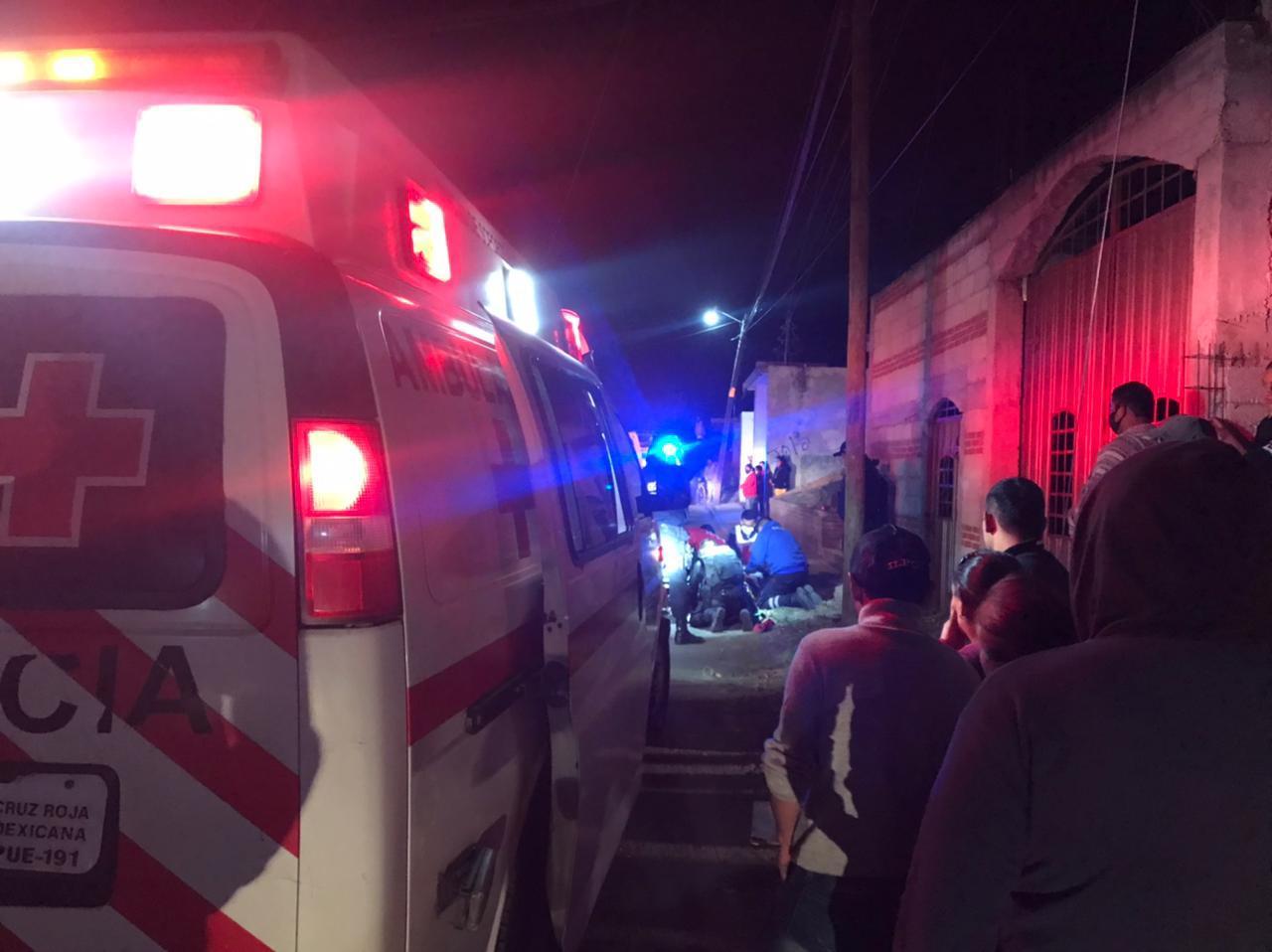 ambulancia huejotzingo elemento lesionado