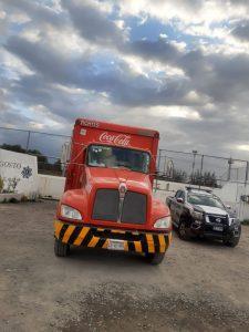 camion cocacola seguridad texmelucan