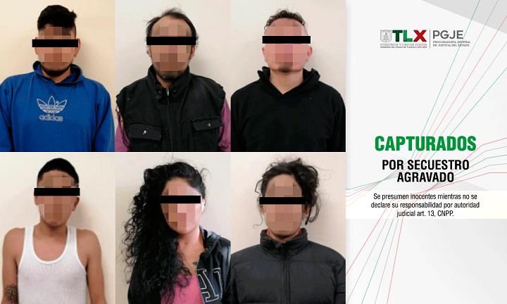 capturados secuestro agravado