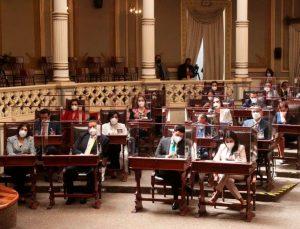 Es la primera vez en la historia del Congreso que una Mesa Directiva la conforman mujeres entre ellas Fátima Taboada, diputada plurinominal