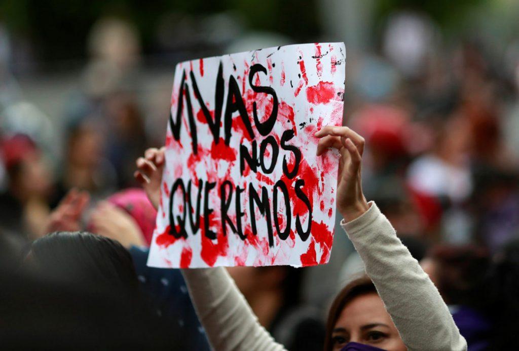feminicidios vivas nos queremos cartulina