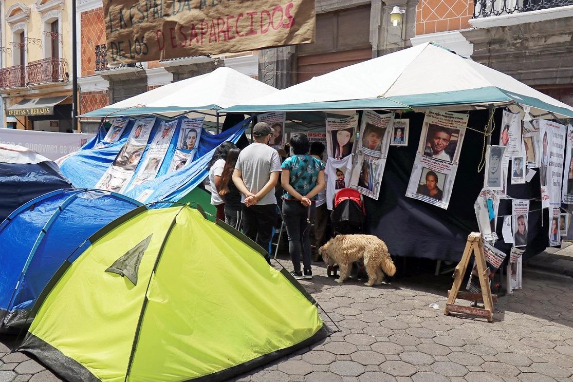 manifestacion congreso familias desparecidos puebla