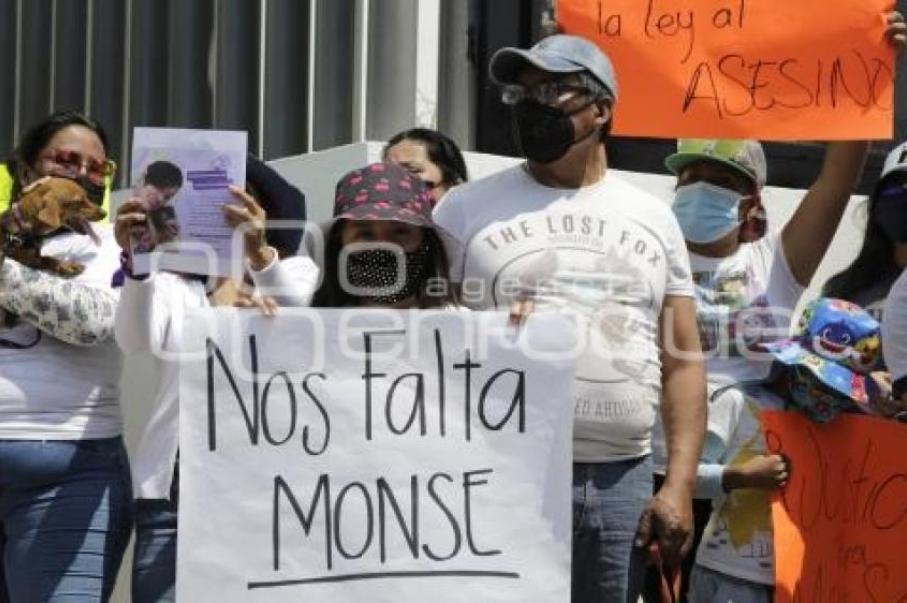 manifestacion justicia monserrat fge puebla