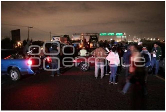 manifestacion xonacatepec autopista puebla