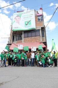 El candidato del PVEM recorrió las calles de la comunidad de Santa Martí Moyotzingo