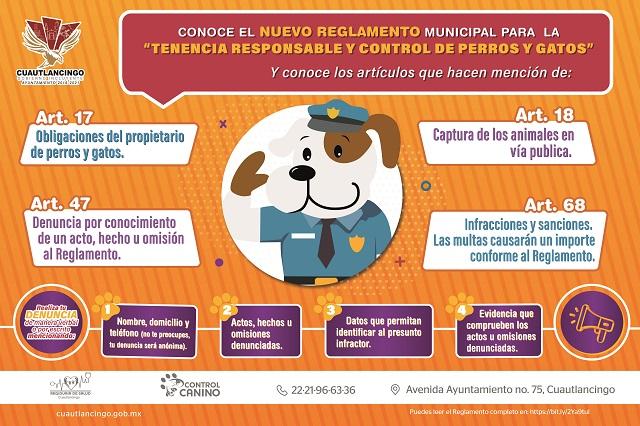 reglamento perros y gatos