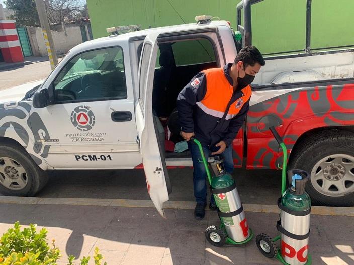 tanque oxigeno proteccion civil tlalancaleca