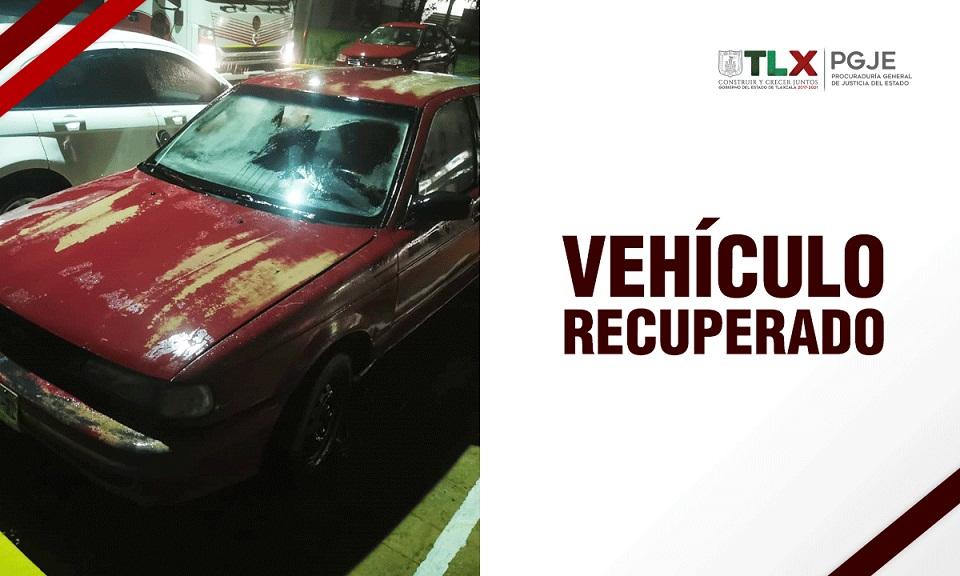 vehiculo robado recuperado
